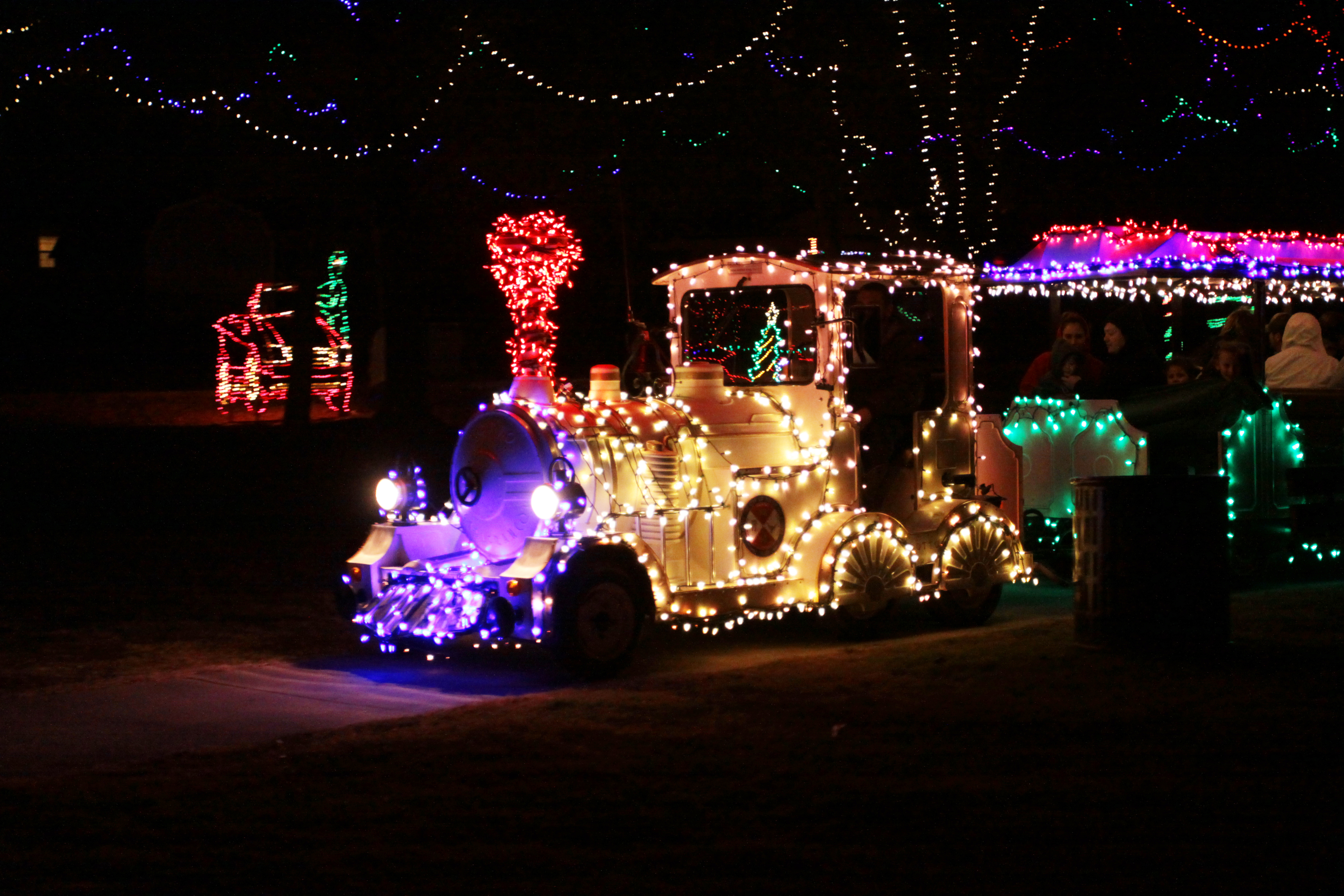 the santa express train offers a fun way to view beautiful christmas lights during yukons christmas in the park and this year a new train is coming to